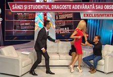 Sânziana Buruiană și-a bătut iubitul, în direct, la TV