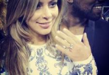 Bling-Bling! Kim Kardashian, inel de logodnă de 1,6 milioane $, primit într-un parc închiriat special pentru ea