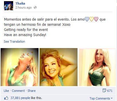 thalia facebook