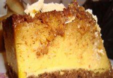 Rețetă: astăzi Tort cu crema de zahar ars