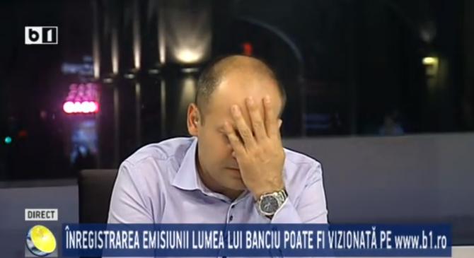 ŞOC PE B1TV. Radu Banciu S-A PRĂBUŞIT în emi …