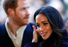 Britain's Prince Harry and his fiancee Meghan Markle arrive at an event in Nottingham, Britain, December 1, 2017. REUTERS/Adrian Dennis/Pool