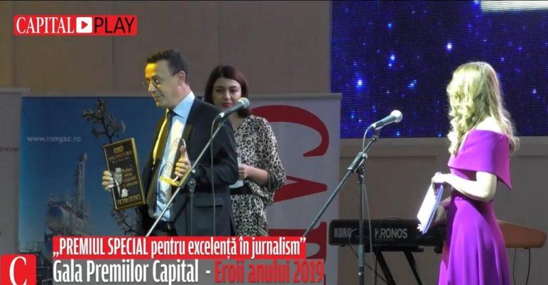 """Gala Capital premiază Eroii Anului 2019. Cine a luat premiul special pentru """"excelență în jurnalism"""""""