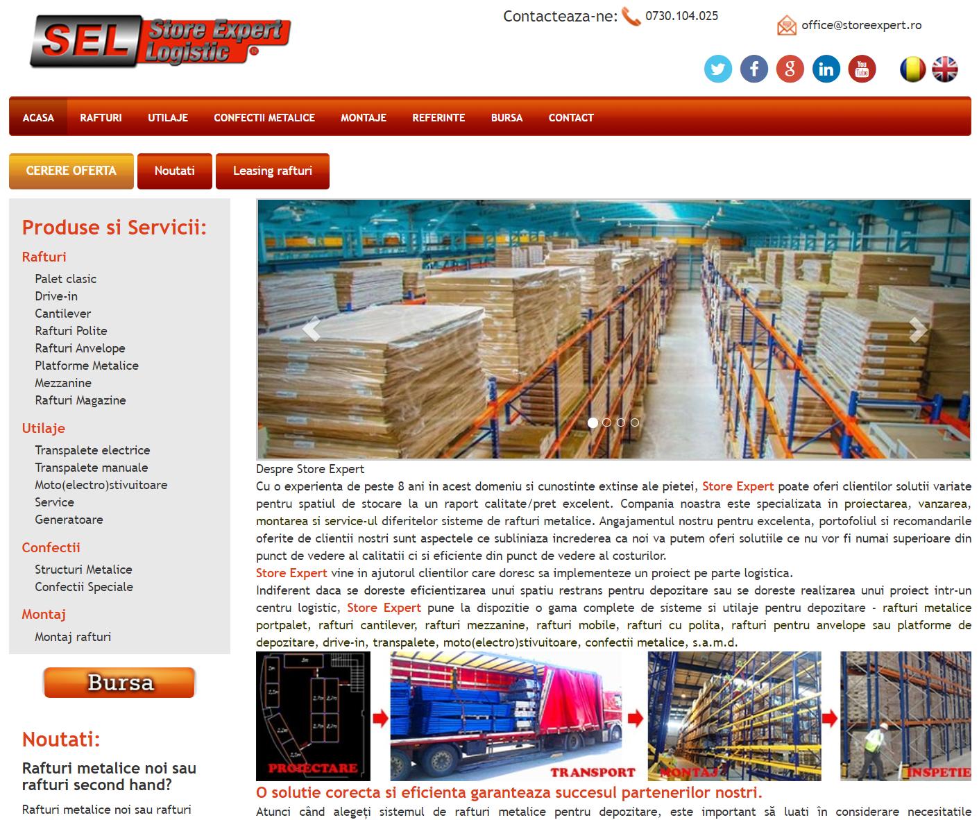 Cele mai bune solutii in materie de rafturi pentru depozite, vin de la StoreExpert.ro!
